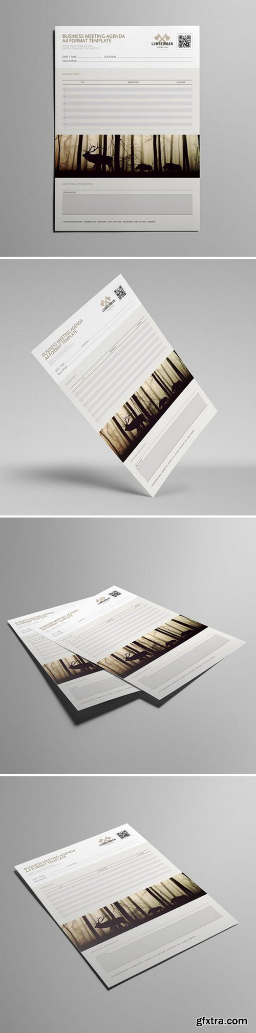 KeBoto - Business Meeting Agenda A4 Format Template 000169