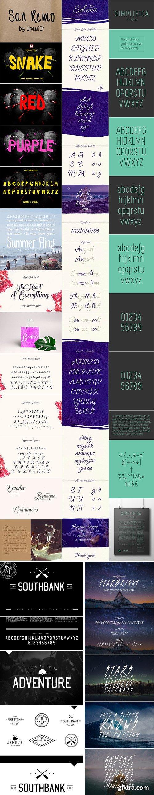 Mix Fonts Bundle 45