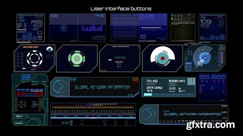 Pond5 - Hud User Interface Button Elements - 067468406