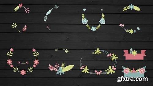 Pond5 - Floral Frame And Titles For Wedding - 072492352
