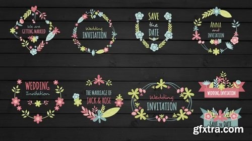 Pond5 - Floral Frame And Titles For Wedding - 072492352