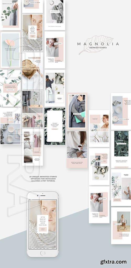 CreativeMarket - Magnolia Animated Instagram Stories 2818704