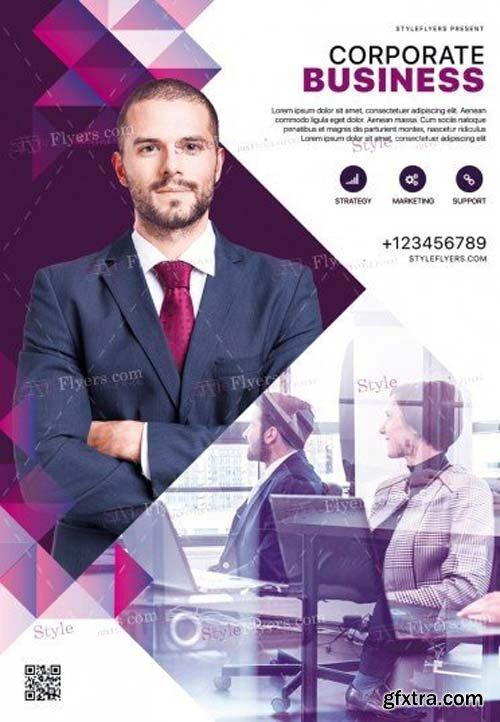 Corporate V45 2018 PSD Flyer Template