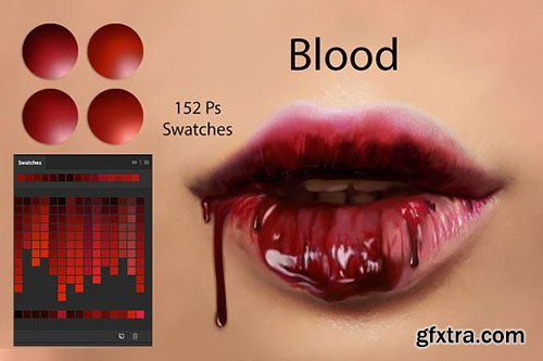 CreativeMarket - Blood Swatches 2879560