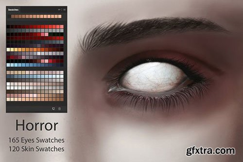 CreativeMarket - Horror Eyes & Skin Swatches 2881239