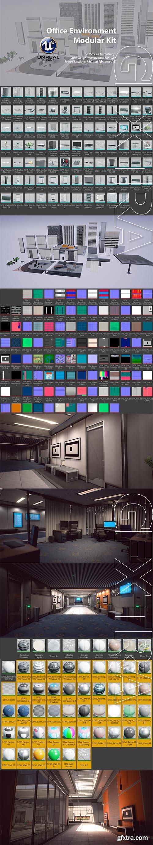 Cubebrush - Office Environment Modular Kit