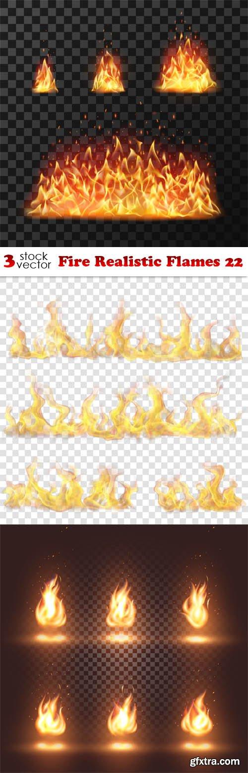 Vectors - Fire Realistic Flames 22
