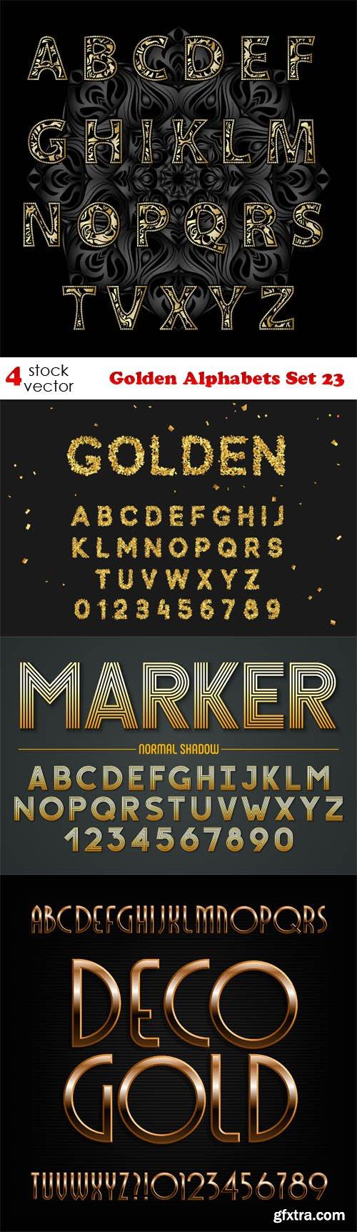 Vectors - Golden Alphabets Set 23