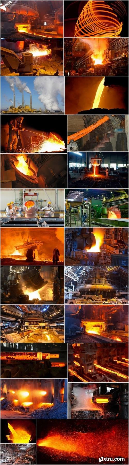 Metallurgical plant metal rolling molten metal steel raw materials ore 25 HQ Jpeg