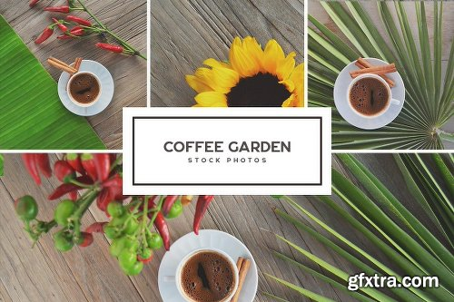 CreativeMarket Coffee Garden Photo Bundle 1884717