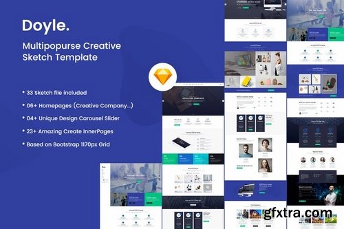 Doyle - Creative Multipurpose Sketch Template