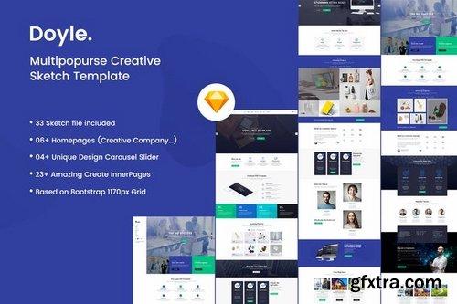 Doyle - Creative Multipurpose Sketch Template