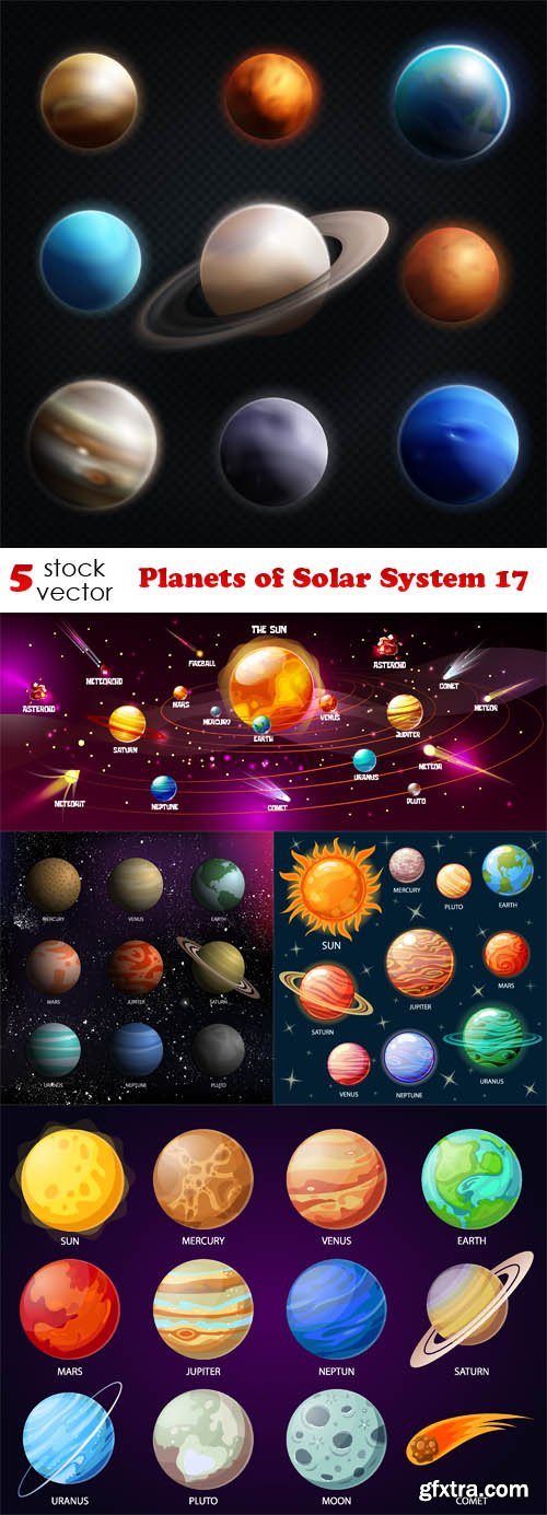 Vectors - Planets of Solar System 17