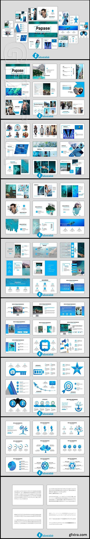 CreativeMarket - Papase Business Powerpoint Template 2848678