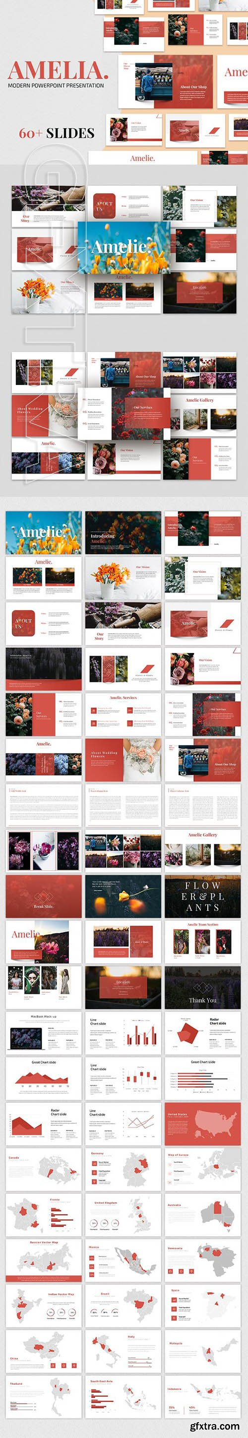 CreativeMarket - AMELIA - Modern Powerpoint Template 2868665