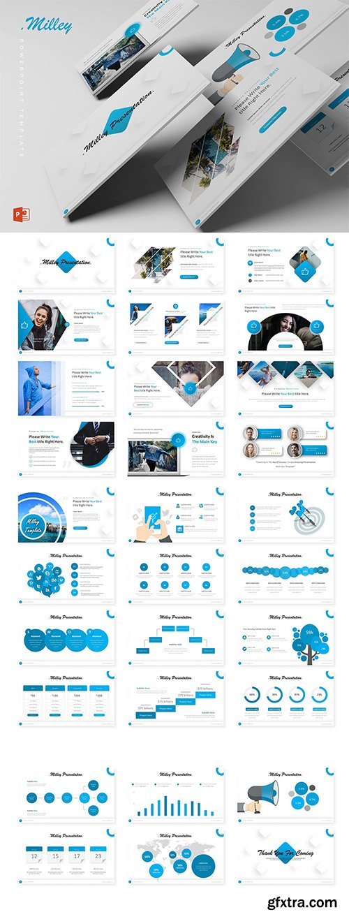 Milley Powerpoint, Keynote and Google Slide Template