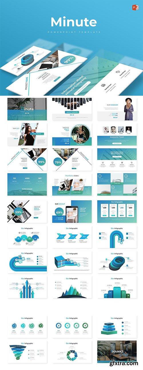 Minute Powerpoint, Keynote and Google Slide Template
