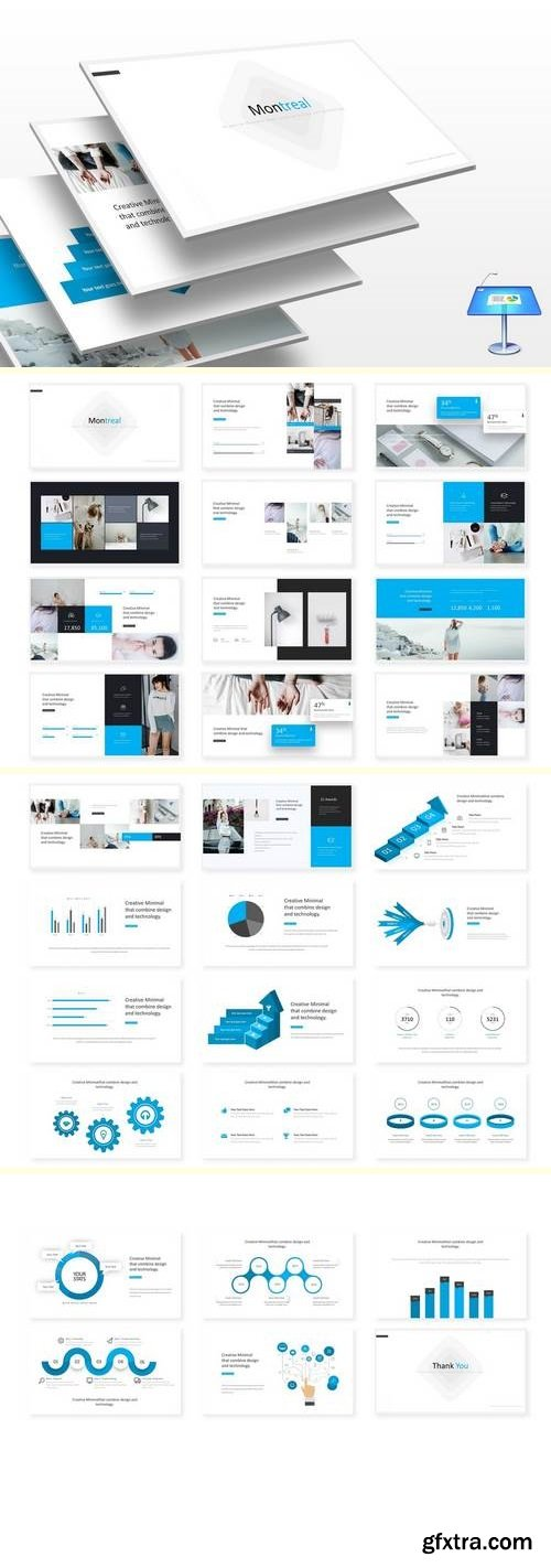 Montreal - Powerpoint, Keynote and Google Sliders Template
