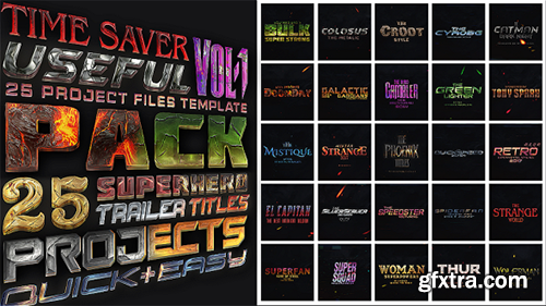 Videohive Avengers SuperHeroes Pack 19262522 (With 31 August 18 Update)