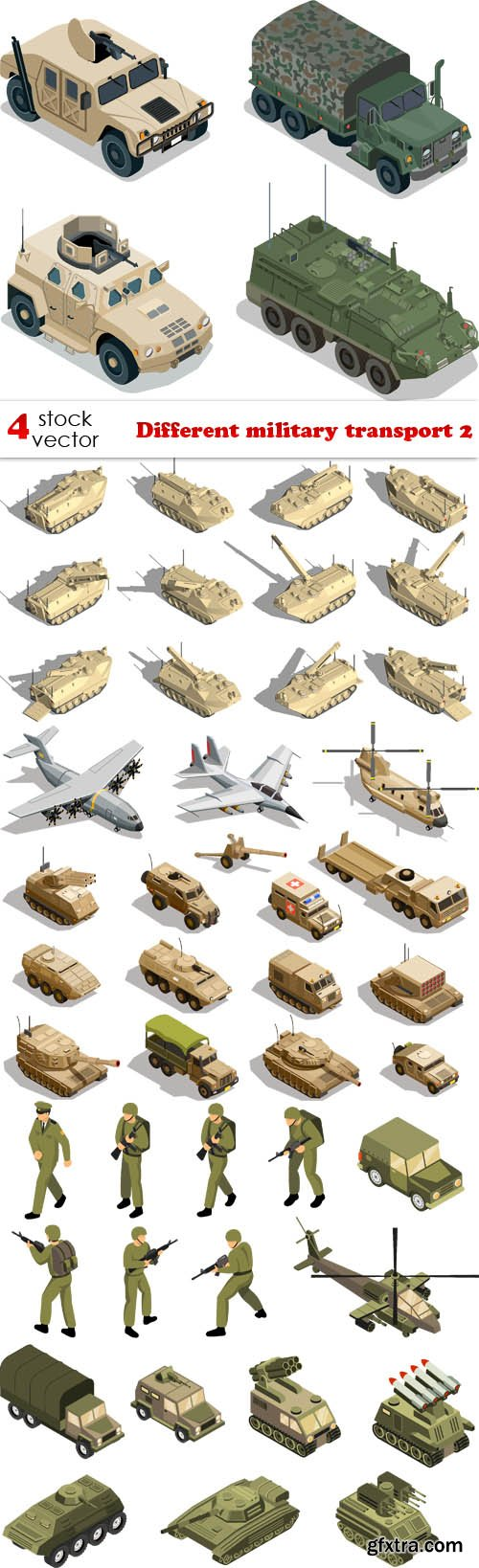 Vectors - Different military transport 2