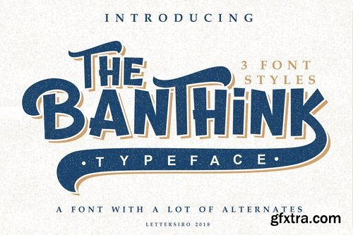 CM - The Banthink - 3 Font Styles 2905442