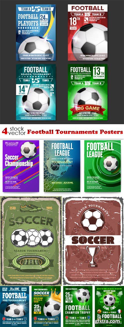 Vectors - Football Tournaments Posters