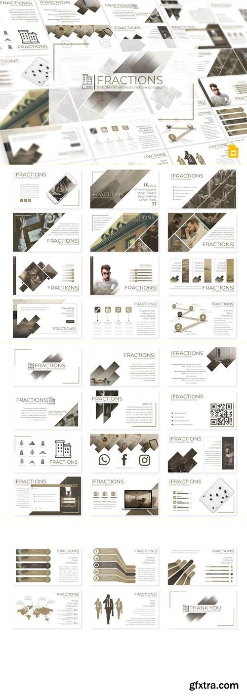 Fractions - Powerpoint, Keynote and Google Sliders Template