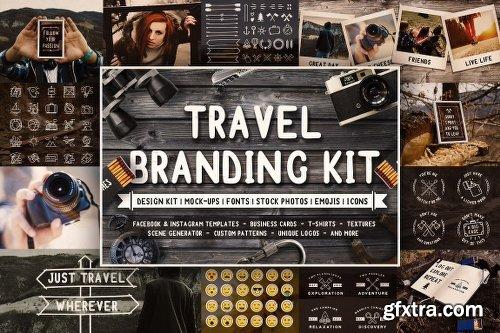 CreativeMarket Full Travel Branding Kit 1483281