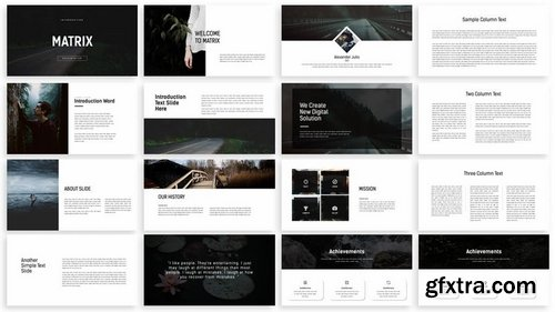 Matrix - minimal powerpoint presentation