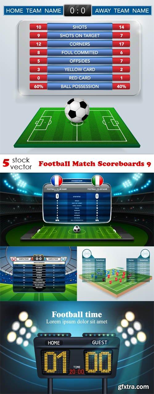 Vectors - Football Match Scoreboards 9
