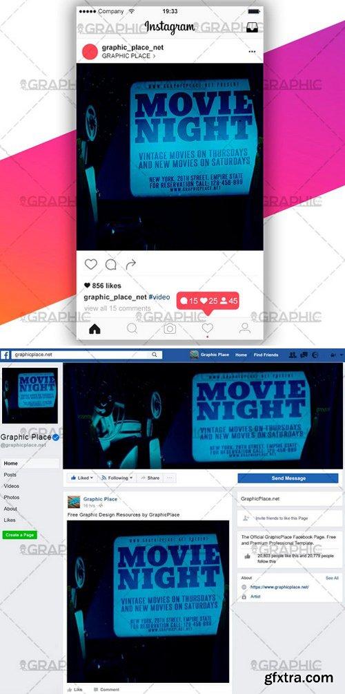 MOVIE NIGHT – SOCIAL MEDIA VIDEO TEMPLATE