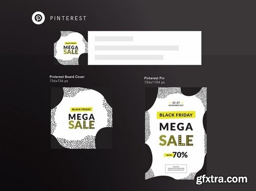 Black Friday Sale Social Media and Banner Pack Pack Template
