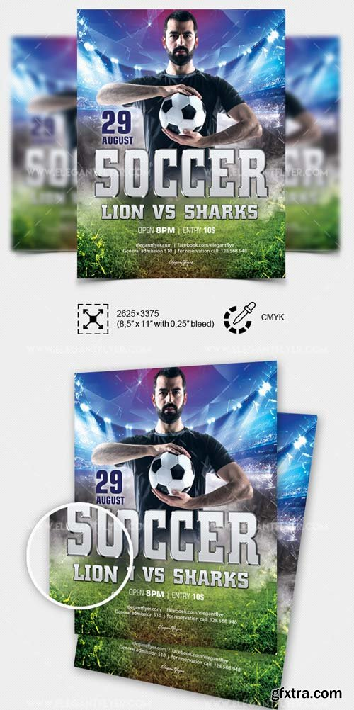 Soccer Cup V7 2018 Flyer PSD Template