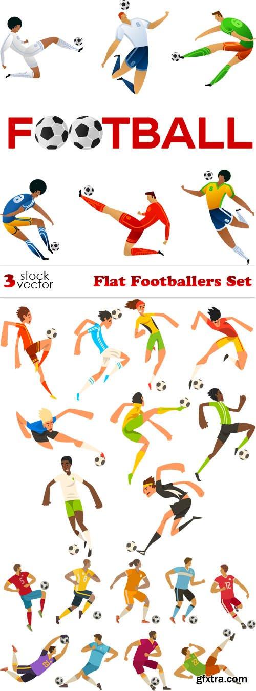 Vectors - Flat Footballers Set