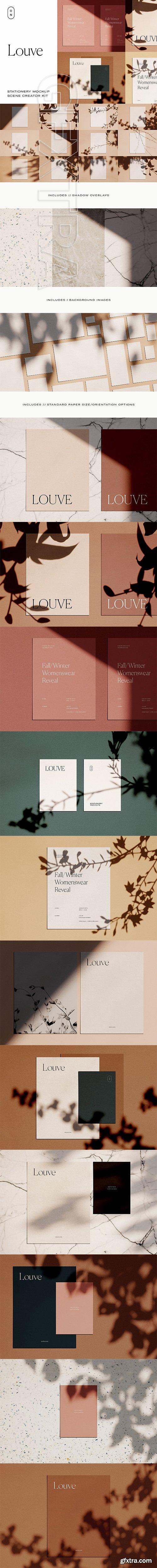 CreativeMarket - Louve – (Mockup Kit) Scene Creator 2845996