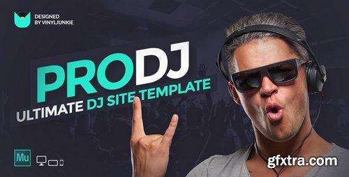 ThemeForest - ProDJ v1.0 - Creative DJ / Producer Site Muse Template - 17260465