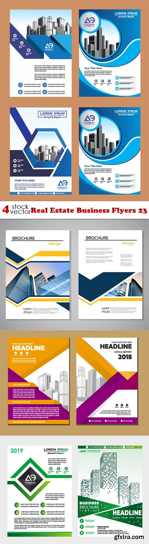 Vectors - Real Estate Business Flyers 23