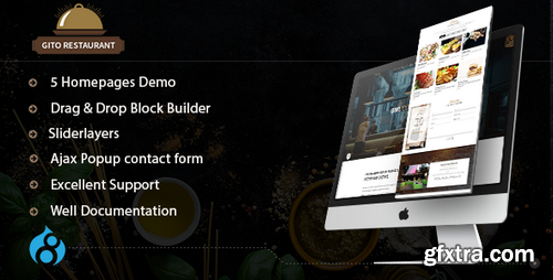 ThemeForest - GITO - Cafe & Restaurant Drupal 8.5 Theme - 20807328