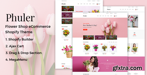 ThemeForest - Phuler v1.0 - Flower Shop Shopify Theme + RTL + DropShipping - 22441395