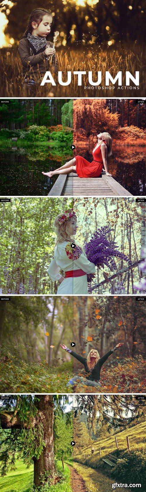 50 Autumn Photoshop Actions Bundle