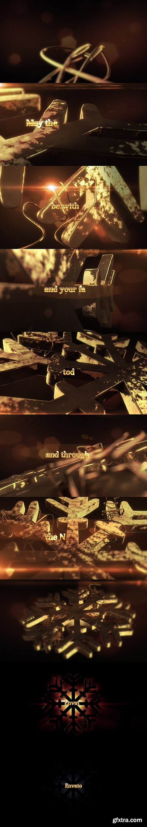 Videohive 3D Gold Christmas | Titles - Opener 19104526