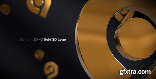 Videohive Gold 3D Logo Opener 20842906