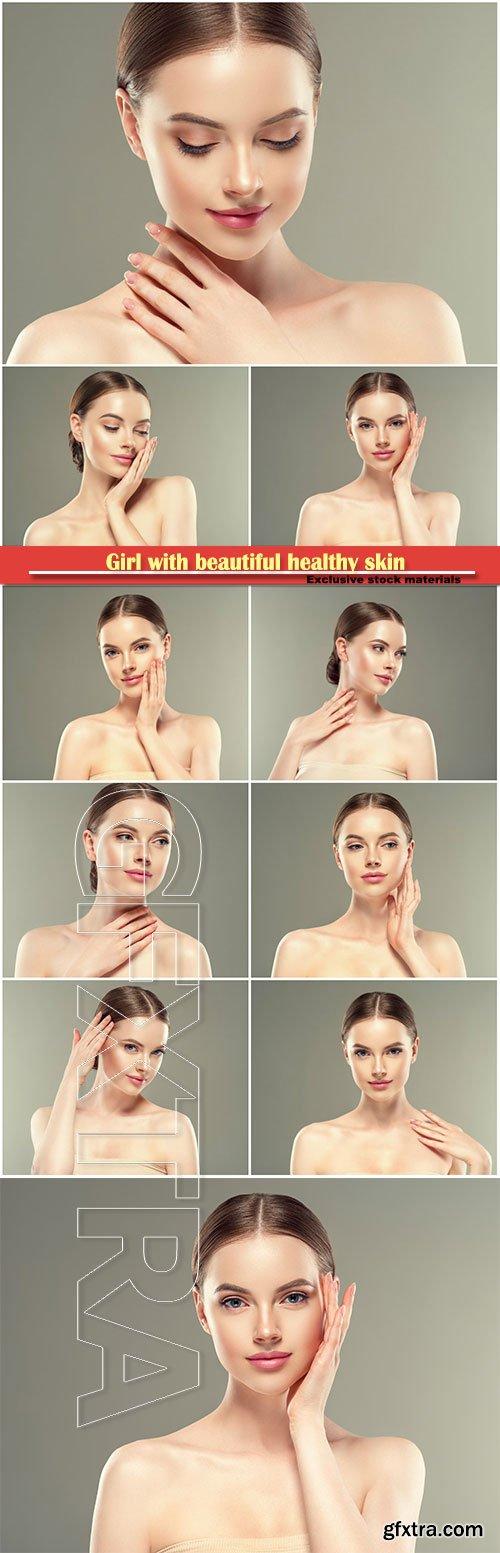 Girl with beautiful healthy skin