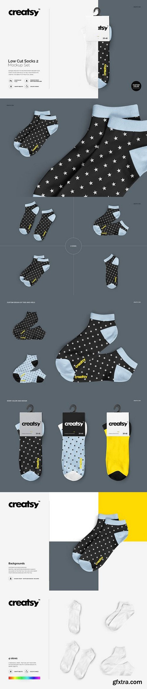 CM - Low Cut Socks 2 Mockup Set 1654200