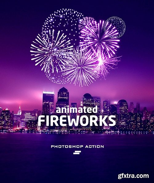 Graphicriver - Gif Animated Fireworks Photoshop Action 20914565