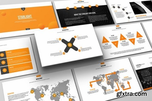 Starlight powerpoint template vector photoshop psdafter effects starlight powerpoint template toneelgroepblik Choice Image
