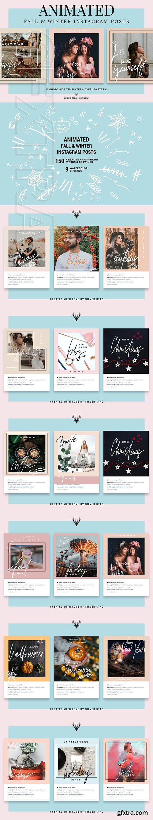 CreativeMarket - Holiday ANIMATED Instagram Posts 2933991