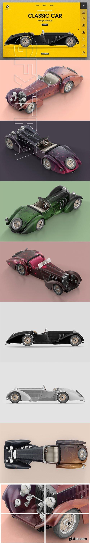 CreativeMarket - Vintage Classic Car Mockup 2935755