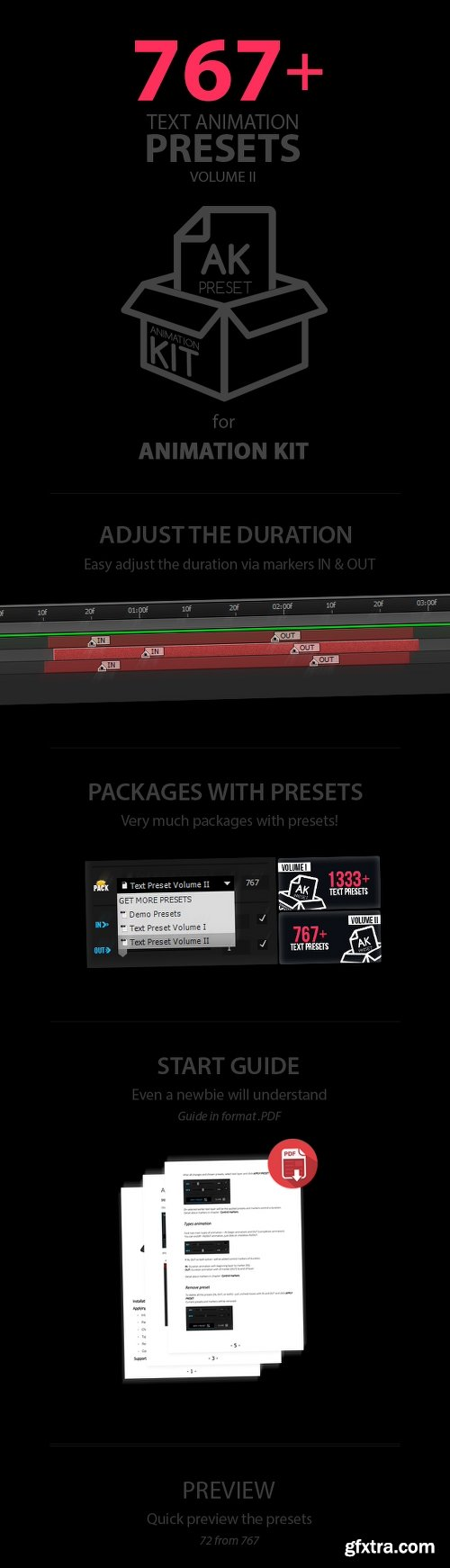 Videohive Text Preset Volume II for Animation Kit 16176453