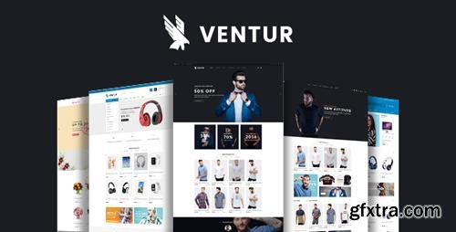 ThemeForest - Ventur v1.0 - Fashion OpenCart Theme (Included Color Swatches) - 22587244